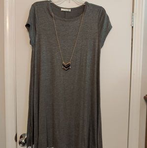 Forever Rose Coulture Dress With Necklace